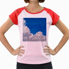 Sky Clouds Blue White Weather Air Women s Cap Sleeve T Shirt