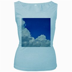 Sky Clouds Blue White Weather Air Women s Baby Blue Tank Top