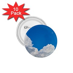 Sky Clouds Blue White Weather Air 1 75  Buttons (10 Pack)