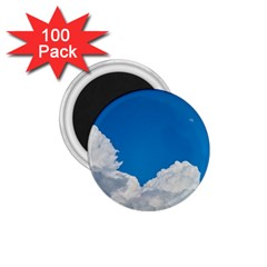 Sky Clouds Blue White Weather Air 1.75  Magnets (100 pack)