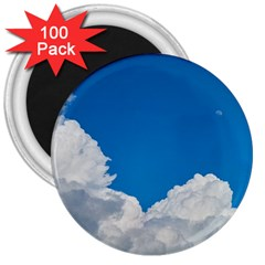 Sky Clouds Blue White Weather Air 3  Magnets (100 Pack)