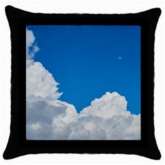 Sky Clouds Blue White Weather Air Throw Pillow Case (black)