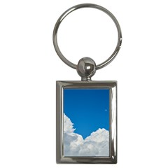Sky Clouds Blue White Weather Air Key Chains (Rectangle)