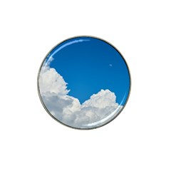 Sky Clouds Blue White Weather Air Hat Clip Ball Marker (4 Pack)