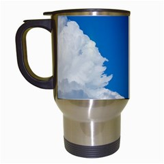 Sky Clouds Blue White Weather Air Travel Mugs (White)