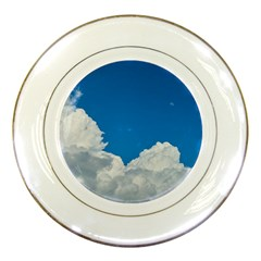 Sky Clouds Blue White Weather Air Porcelain Plates