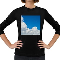 Sky Clouds Blue White Weather Air Women s Long Sleeve Dark T Shirts