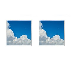 Sky Clouds Blue White Weather Air Cufflinks (Square)