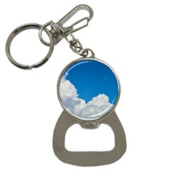 Sky Clouds Blue White Weather Air Button Necklaces