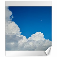 Sky Clouds Blue White Weather Air Canvas 8  X 10