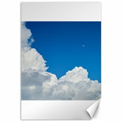 Sky Clouds Blue White Weather Air Canvas 12  x 18