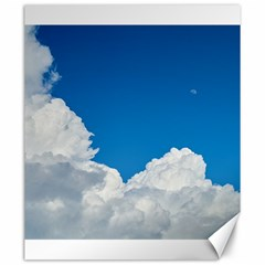 Sky Clouds Blue White Weather Air Canvas 20  x 24