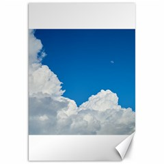 Sky Clouds Blue White Weather Air Canvas 20  x 30