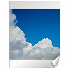 Sky Clouds Blue White Weather Air Canvas 36  X 48
