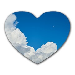 Sky Clouds Blue White Weather Air Heart Mousepads