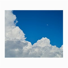 Sky Clouds Blue White Weather Air Small Glasses Cloth (2 Side)