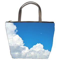 Sky Clouds Blue White Weather Air Bucket Bags