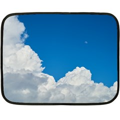 Sky Clouds Blue White Weather Air Double Sided Fleece Blanket (mini)