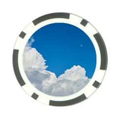 Sky Clouds Blue White Weather Air Poker Chip Card Guard (10 Pack)