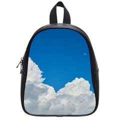 Sky Clouds Blue White Weather Air School Bags (Small)