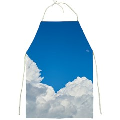 Sky Clouds Blue White Weather Air Full Print Aprons