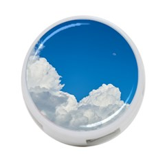Sky Clouds Blue White Weather Air 4 Port Usb Hub (one Side)