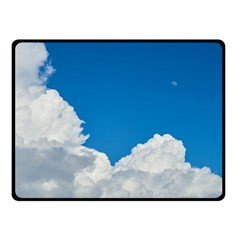 Sky Clouds Blue White Weather Air Fleece Blanket (small)