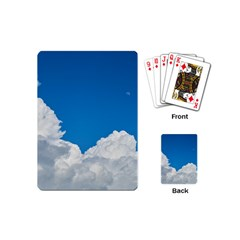 Sky Clouds Blue White Weather Air Playing Cards (Mini)