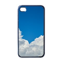 Sky Clouds Blue White Weather Air Apple iPhone 4 Case (Black)