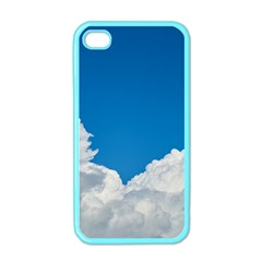 Sky Clouds Blue White Weather Air Apple Iphone 4 Case (color)