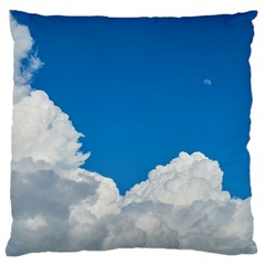 Sky Clouds Blue White Weather Air Large Cushion Case (Two Sides)