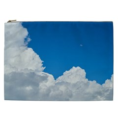 Sky Clouds Blue White Weather Air Cosmetic Bag (xxl)