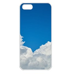 Sky Clouds Blue White Weather Air Apple iPhone 5 Seamless Case (White)