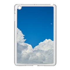 Sky Clouds Blue White Weather Air Apple iPad Mini Case (White)
