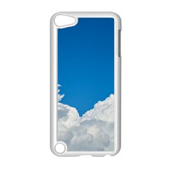 Sky Clouds Blue White Weather Air Apple iPod Touch 5 Case (White)