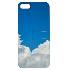 Sky Clouds Blue White Weather Air Apple iPhone 5 Hardshell Case with Stand