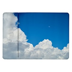 Sky Clouds Blue White Weather Air Samsung Galaxy Tab 10.1  P7500 Flip Case