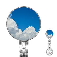 Sky Clouds Blue White Weather Air Stainless Steel Nurses Watch