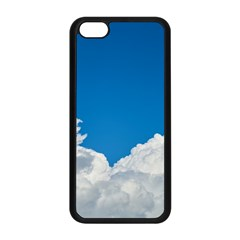 Sky Clouds Blue White Weather Air Apple iPhone 5C Seamless Case (Black)