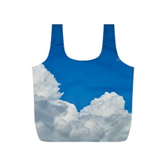 Sky Clouds Blue White Weather Air Full Print Recycle Bags (S)