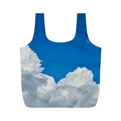 Sky Clouds Blue White Weather Air Full Print Recycle Bags (m)