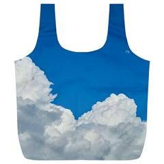 Sky Clouds Blue White Weather Air Full Print Recycle Bags (L)