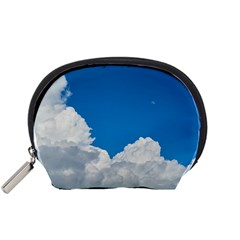 Sky Clouds Blue White Weather Air Accessory Pouches (Small)