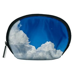 Sky Clouds Blue White Weather Air Accessory Pouches (Medium)