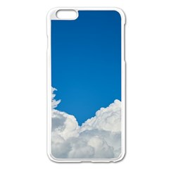Sky Clouds Blue White Weather Air Apple iPhone 6 Plus/6S Plus Enamel White Case