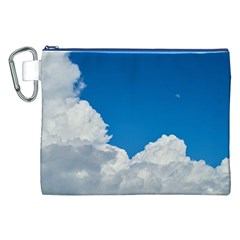 Sky Clouds Blue White Weather Air Canvas Cosmetic Bag (XXL)