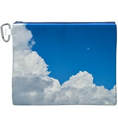 Sky Clouds Blue White Weather Air Canvas Cosmetic Bag (xxxl)