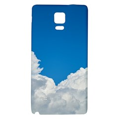 Sky Clouds Blue White Weather Air Galaxy Note 4 Back Case