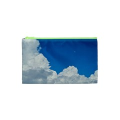 Sky Clouds Blue White Weather Air Cosmetic Bag (xs)