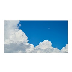 Sky Clouds Blue White Weather Air Satin Wrap